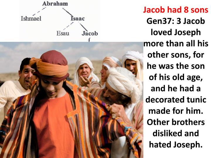 Jacob had 8 sons
