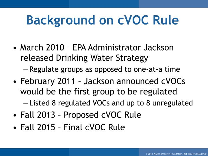 Background on cVOC Rule