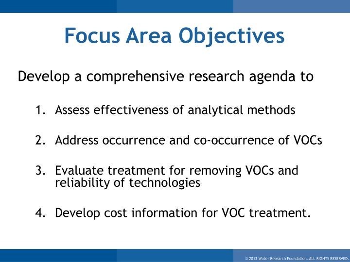 Focus Area Objectives