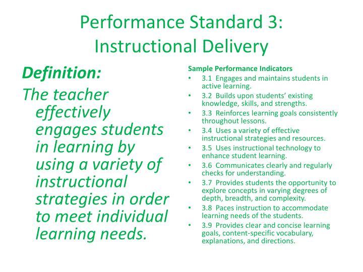 Performance Standard 3: