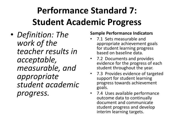 Performance Standard 7: