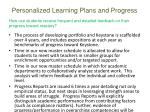 personalized learning plans and progress1