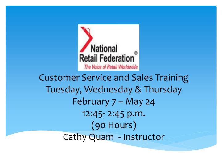 Customer Service and Sales Training