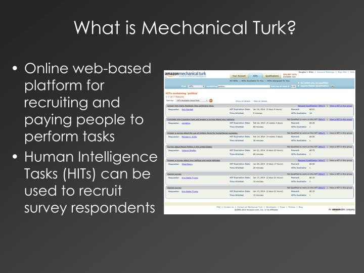 What is Mechanical Turk?