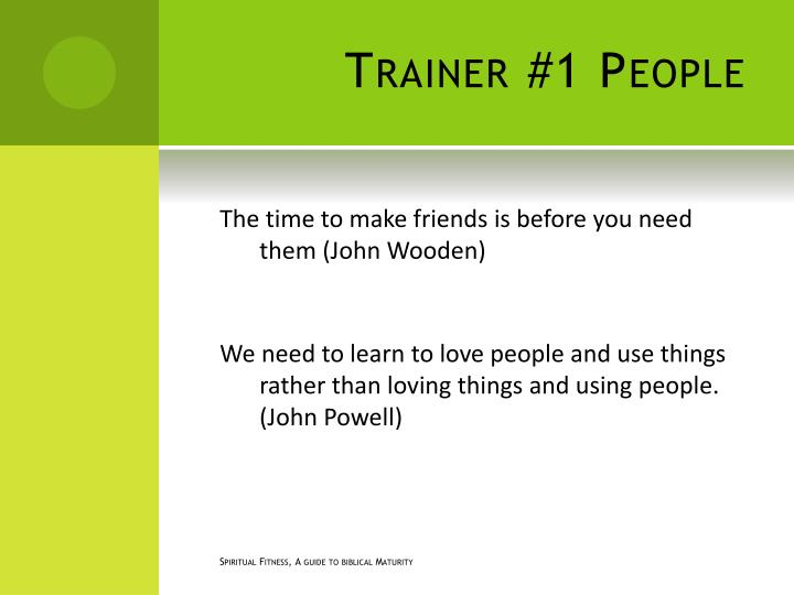 Trainer #1 People
