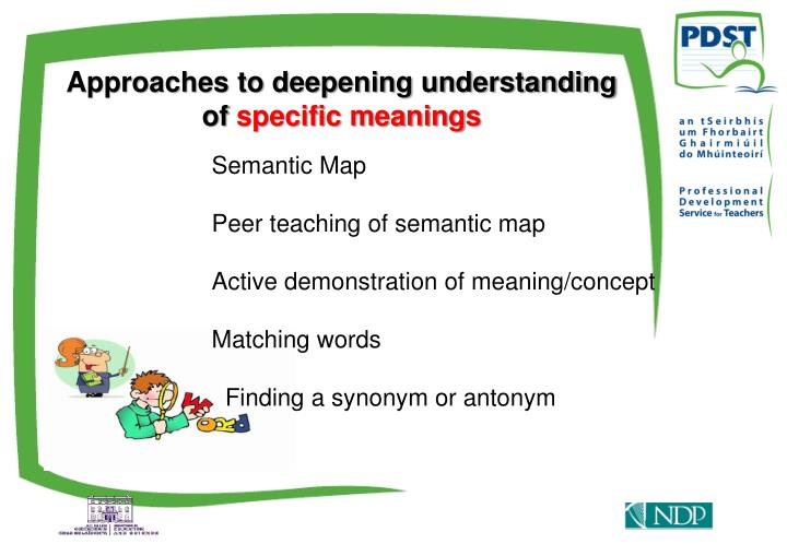 Approaches to deepening understanding of