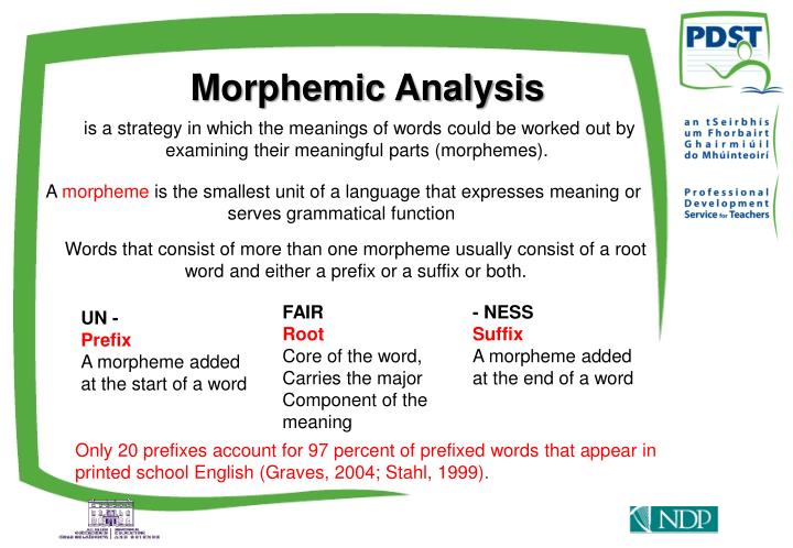 Morphemic Analysis