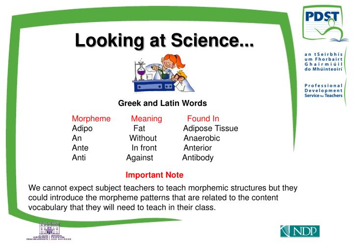 Looking at Science...