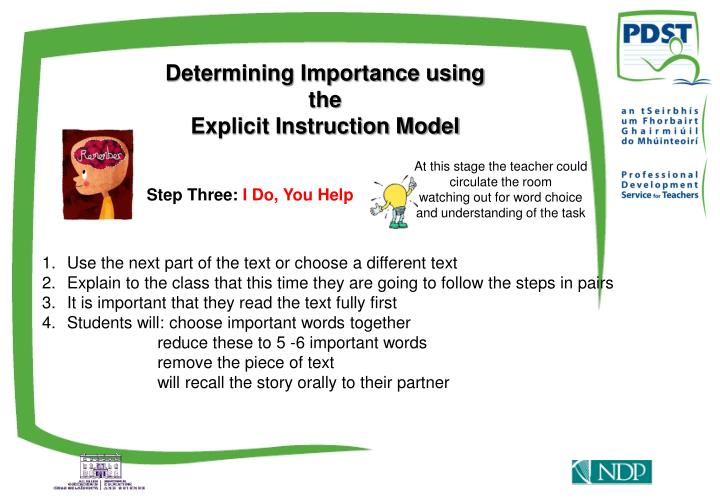 Determining Importance using the
