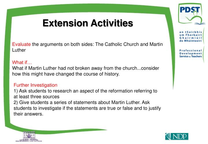 Extension Activities