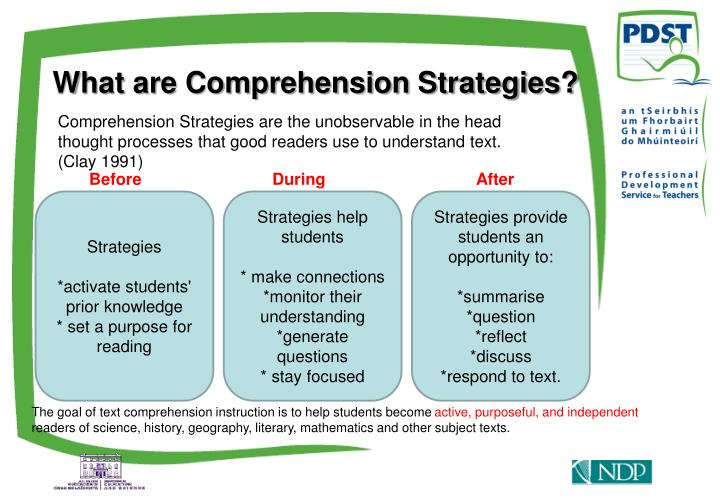 What are Comprehension Strategies?