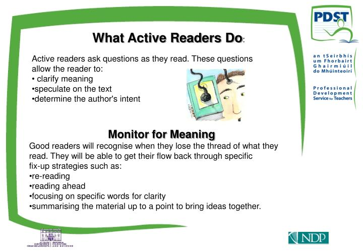 What Active Readers Do