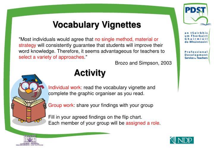 Vocabulary Vignettes