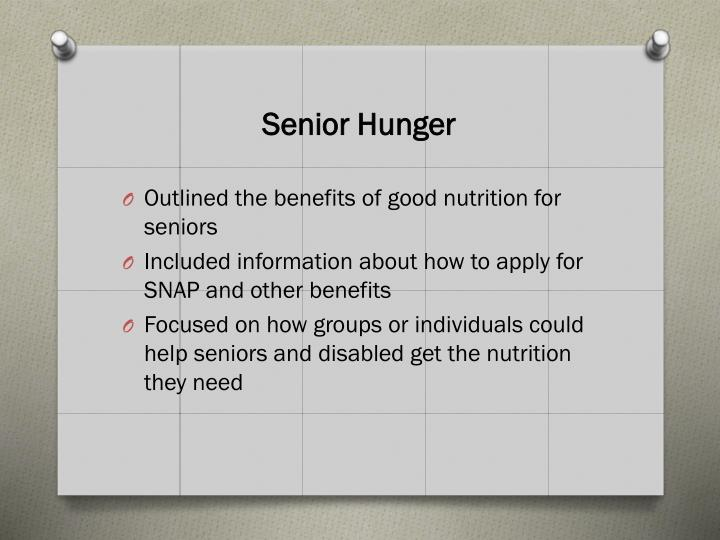 Senior Hunger