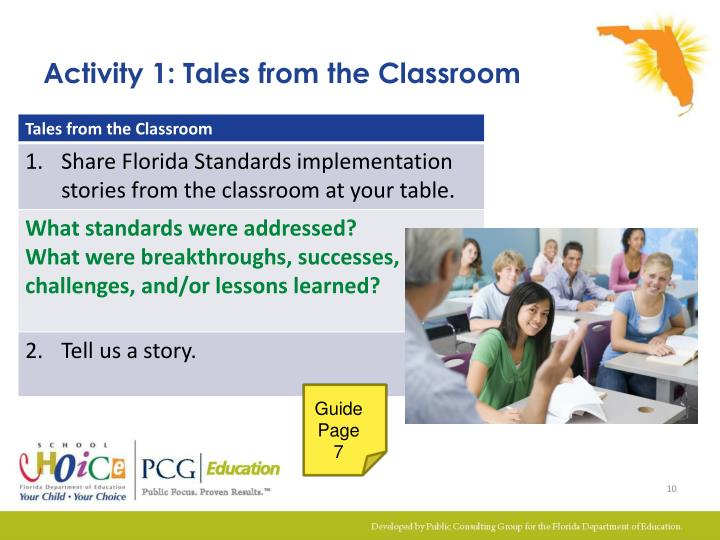 Activity 1: Tales from the Classroom