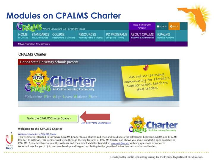 Modules on CPALMS Charter