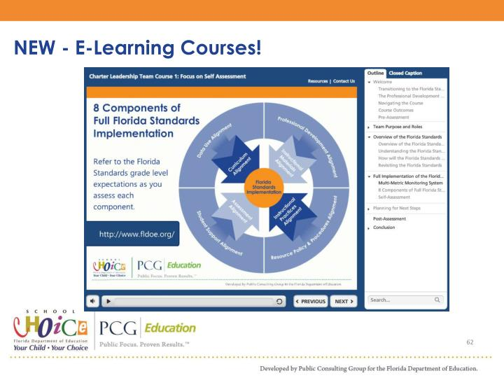 NEW - E-Learning Courses!