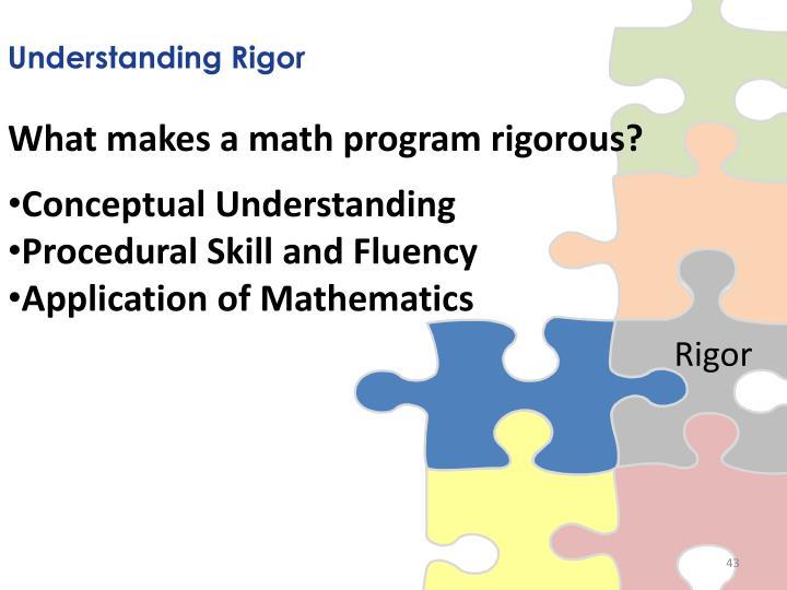 Understanding Rigor