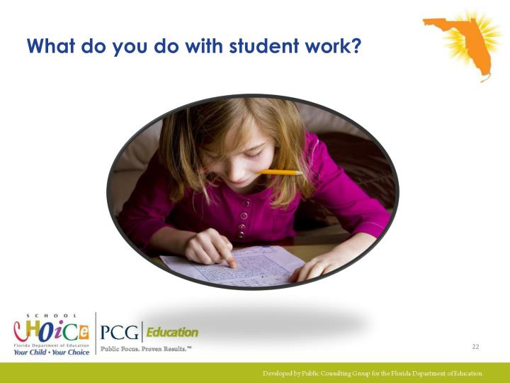 What do you do with student work?