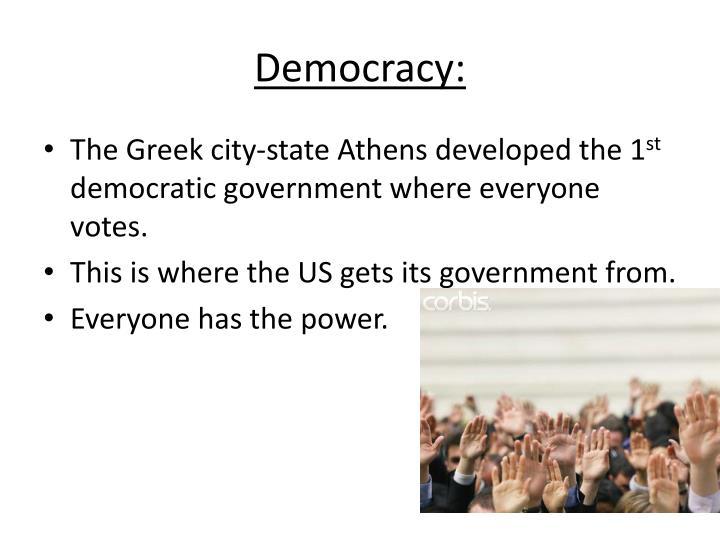 Democracy: