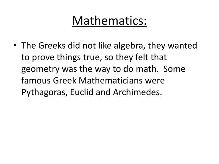 Mathematics: