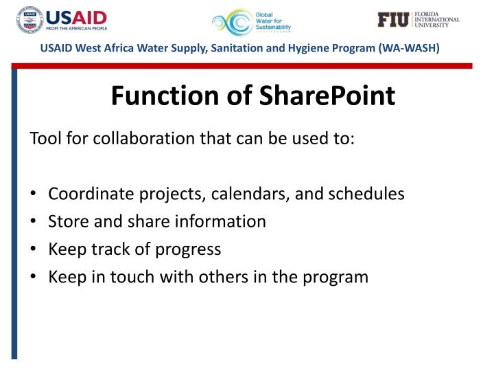 Function of SharePoint