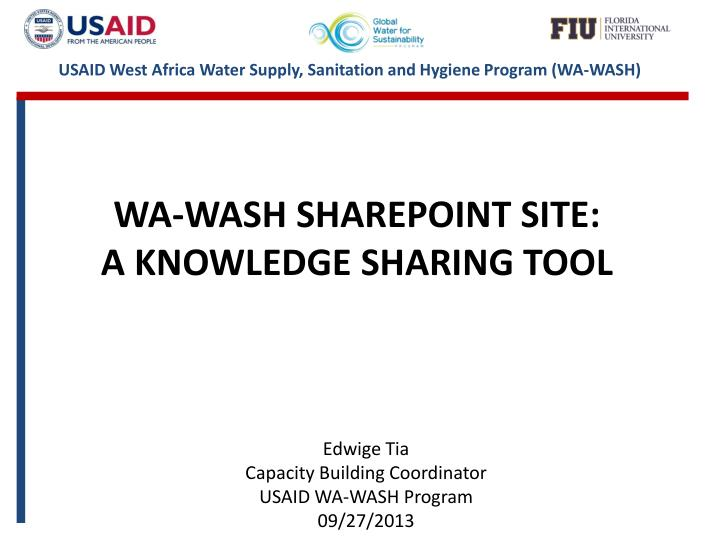 Wa wash sharepoint site a knowledge sharing tool