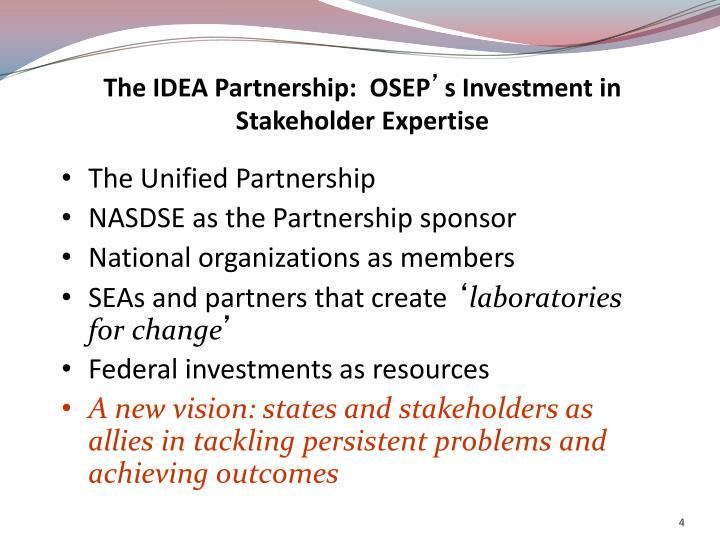 The IDEA Partnership:  OSEP