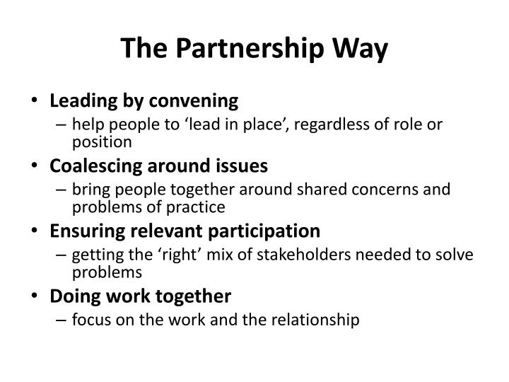 The Partnership Way