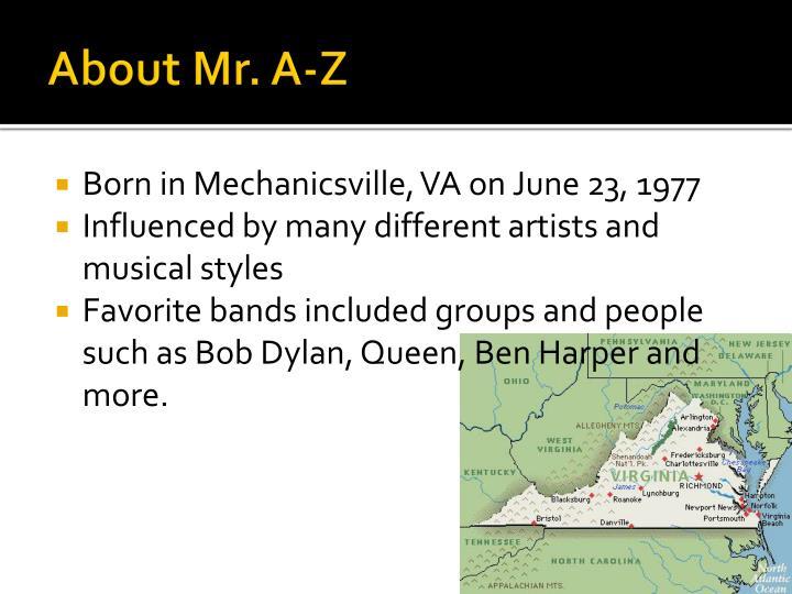 About Mr. A-Z