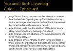 you and i both listening guide continued