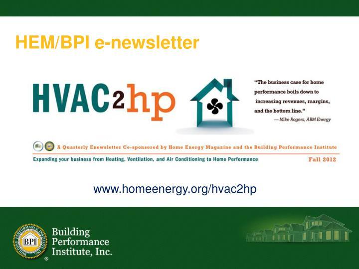 HEM/BPI e-newsletter