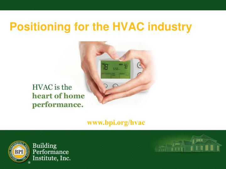 Positioning for the HVAC industry