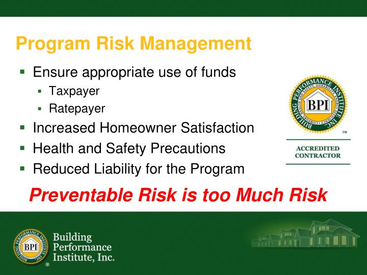 Program Risk Management
