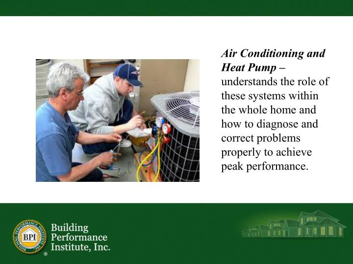 Air Conditioning and Heat Pump –