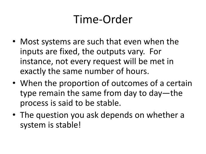 Time-Order