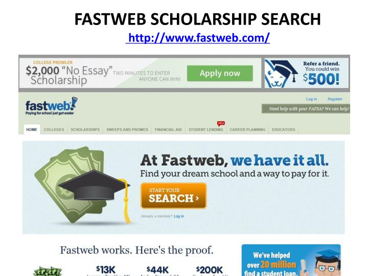 FASTWEB SCHOLARSHIP SEARCH
