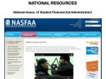 national resources national assoc of student financial aid administrators