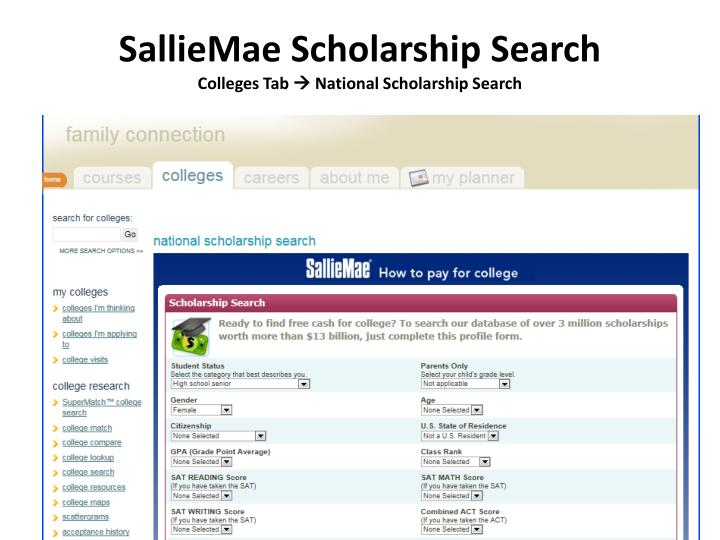 SallieMae Scholarship Search