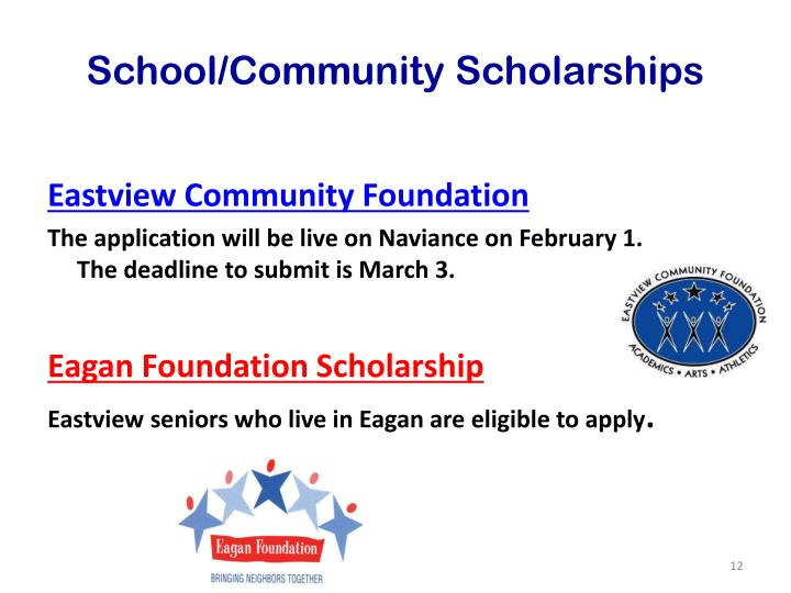 School/Community Scholarships