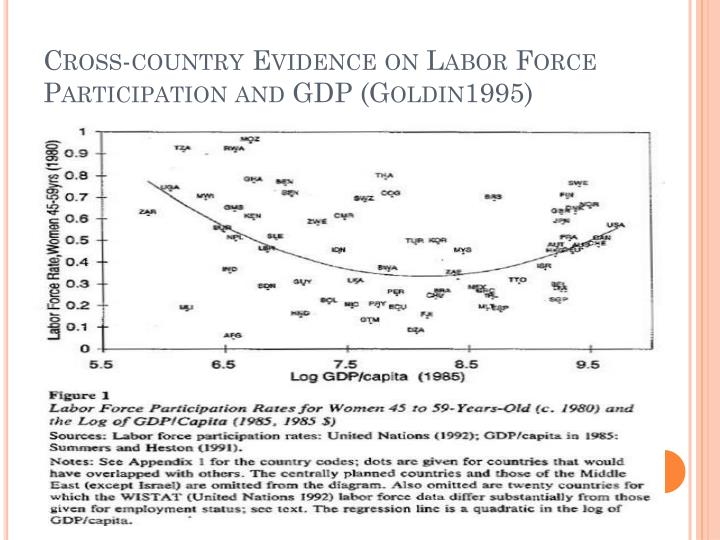 Cross-country Evidence on Labor Force Participation and GDP (Goldin1995)