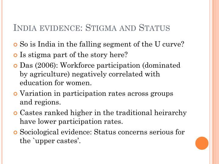 India evidence: Stigma and Status