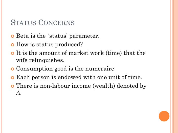 Status Concerns