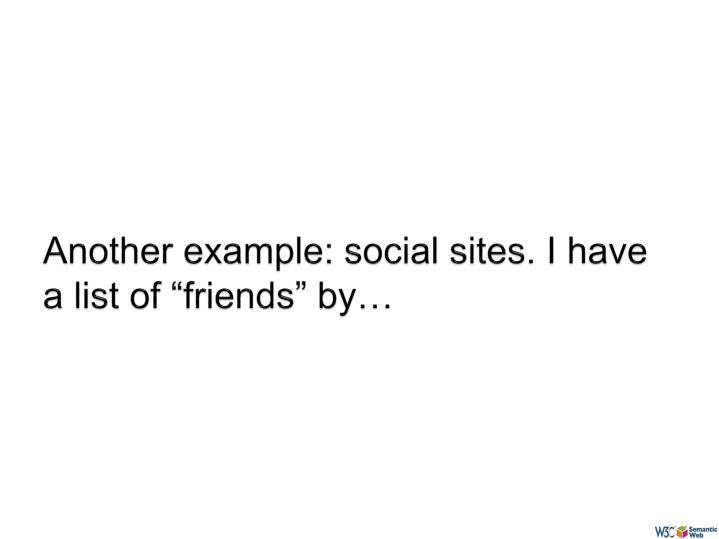"Another example: social sites. I have a list of ""friends"" by…"