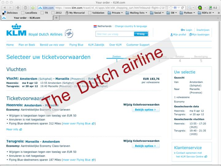 The  Dutch airline