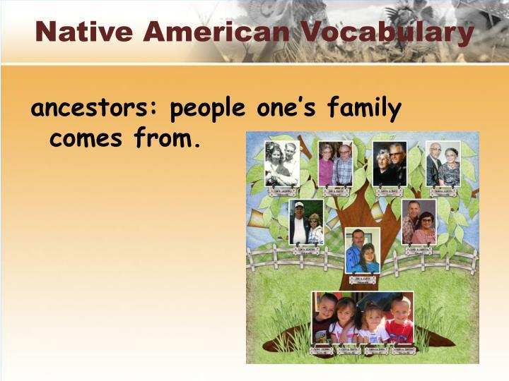 Native American Vocabulary
