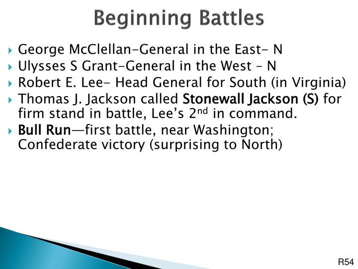 Beginning Battles