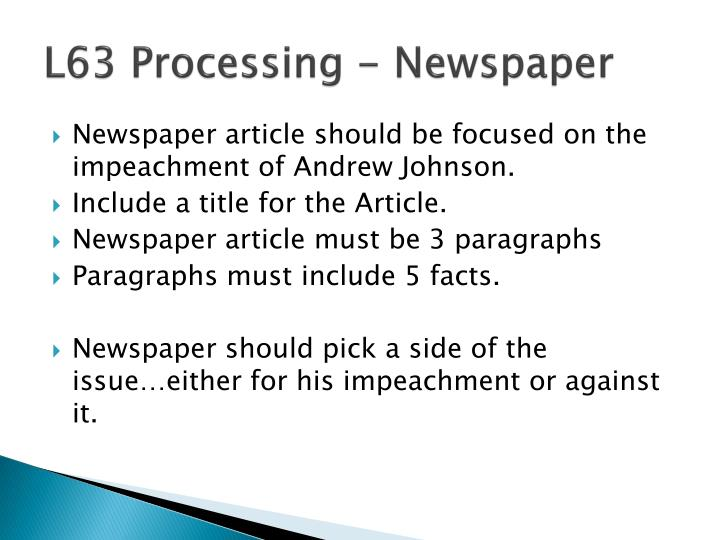 L63 Processing - Newspaper