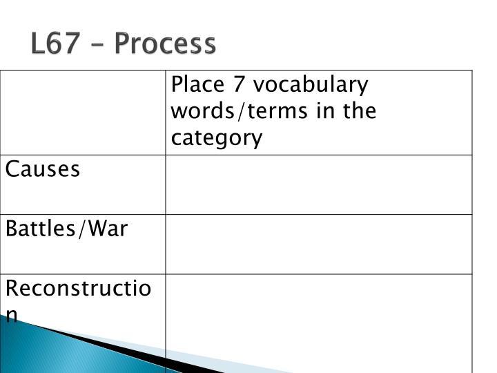 L67 – Process