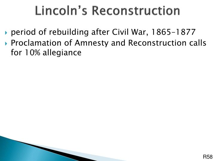 Lincoln's Reconstruction